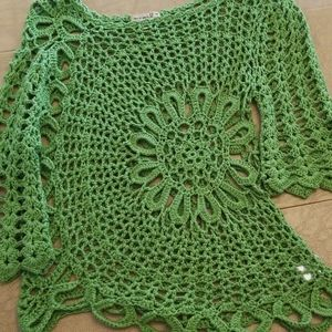 One World Crocheted Top